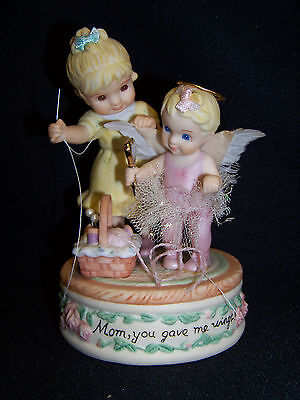 Mom, You Gave Me Wings Figurine By Marie Osmond For Ashton Drake Galleries