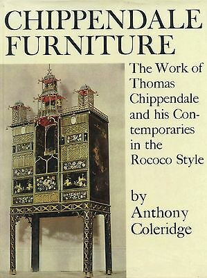 Antique Chippendale Furniture Rococo Style 1745-1765 / Scarce In-Depth Book