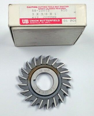 "3"" X 3/8"" X 1"" Side Milling Cutter, Union Butterfield 58-10072"