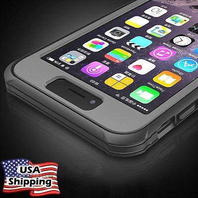 For Apple iPhone 6 6s 7 Plus Shockproof Dirtproof Hybrid Rubber Hard Case Cover