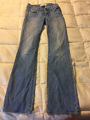 Youth Abercrombie New York Light Blue Jeans Pants Size 14 Slim Cute Stretch