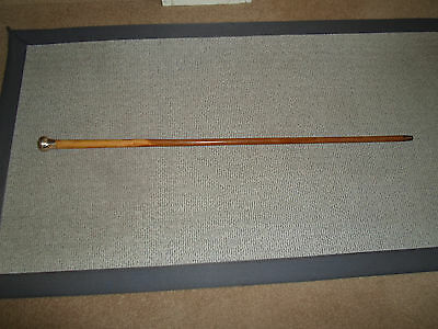 antique malacca silver top walking stick / cane