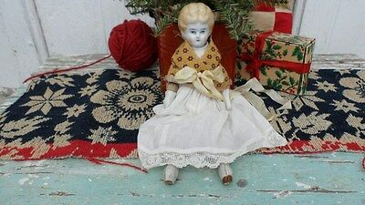 """1890's CHINA MAKE-DO DOLL WITH EARLY REPAIRS ~ """" CLEMINTINE"""""""