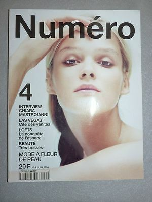 Magazine mode fashion NUMERO french #4 juin 1999 interview Chiara Mastroianni