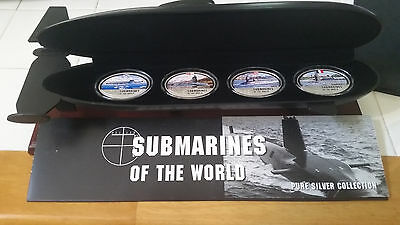 Fiji 2010 $2 LIMITED EDITION Submarines of the World 4x 1Oz .999 Silver Coin Set