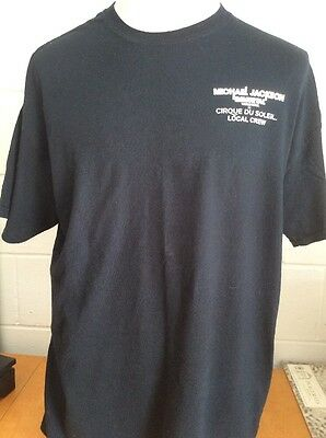 Cirque Du Soleil Michael Jackson The Immortal World Tour Local Crew Men's XL