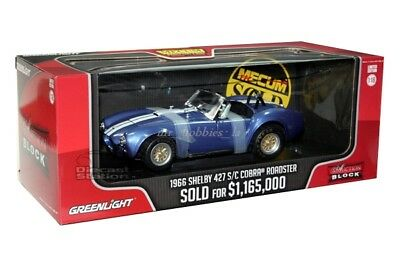 Gl 1966 Shelby Cobra 427 S/c Auction Block 1/18 By Greenlight 12834 Blue