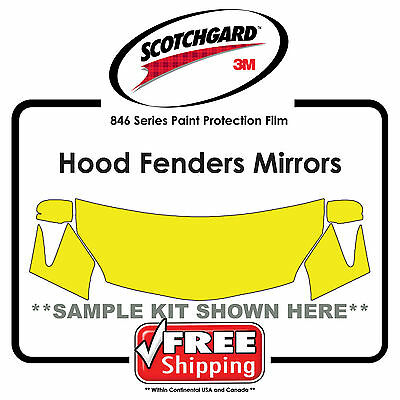 Kits for VW - 3M 846 Scotchgard Paint Protection Film - Hood Fender Tips Mirror