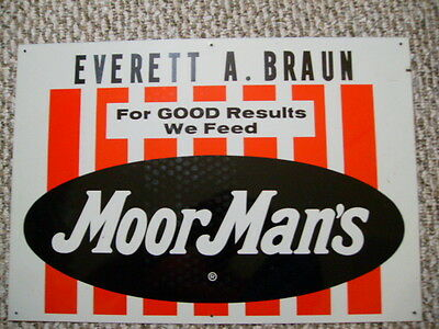 1980's MoorMan's Feed Sign
