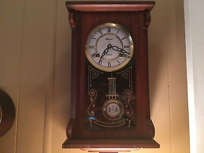 Alaron 31 Day Chime Clock with Key and Pendulum