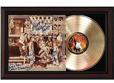 Alice Cooper - 24k Gold LP Record With Reprint Autographs In Cherry Wood Frame