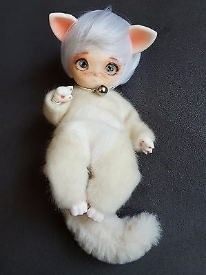 Withdoll Tara Full Set - Turkish Angora - (rose white skin) - BJD - tiny - 16cm