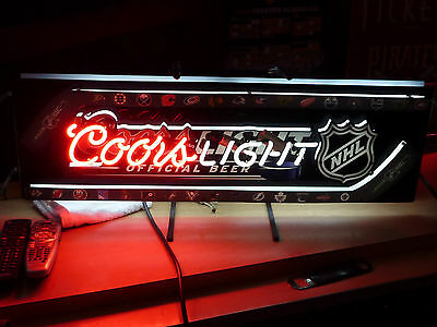 New COORS LIGHT NHL HOCKEY Neon Beer Sign BAR