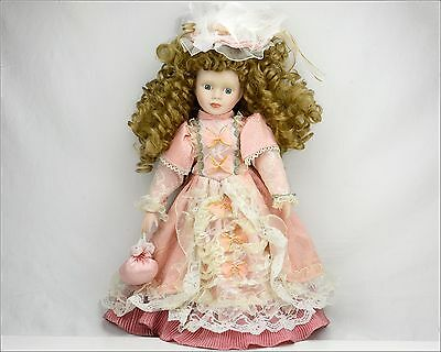 """Vintage Porcelain CATHAY COLLECTION Limited Ser. ANGEL DOLL 16.5"""" - Very Good"""