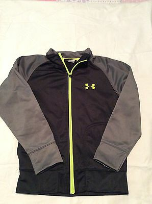 Boys Under Armour Track Jacket Gray And Black Size 5
