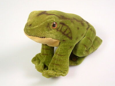 Steiff frog Stuffed Animal collectible Vintage 1960's velvet Toy gift prop