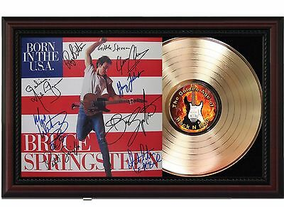 Bruce Springsteen USA - 24k Gold LP Record With Reprint Autograph In Wood Frame