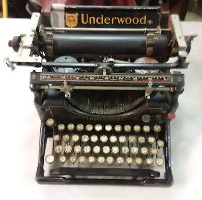 Antique Underwood No 5 Typewriter 1930's Clean, Original & Working beautifu!!l!!