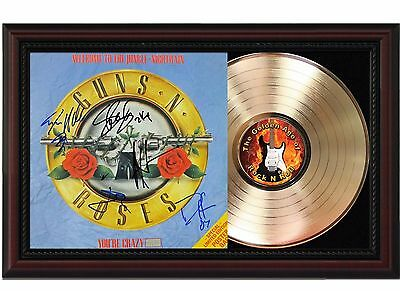Guns N' Roses Jungle - 24k Gold LP Record With Reprint Autographs In Wood Frame