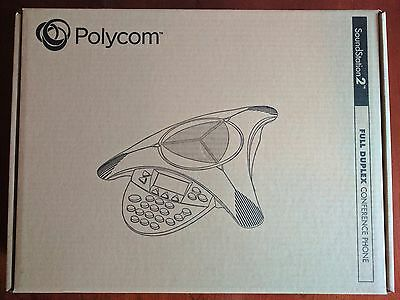 NEW Polycom SoundStation 2 Non Expandable Analog Conference Phone 2200-16000-001