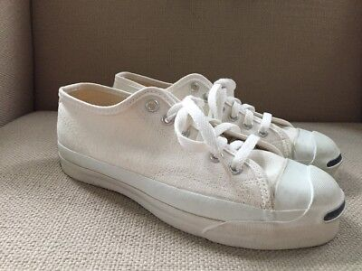 Vintage Jack Purcell White Canvas Sneakers Unworn Made In Usa Mens 5 Womens 6.5