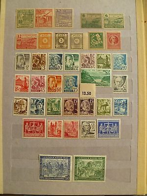 Russian & French Zones MNH stamp collection in post-WW2 defeated Germany.