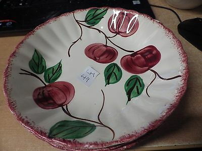 "VINTAGE Blue Ridge Southern Pottery - QUAKER APPLE LOT OF 4 8"" SOUP SALAD BOWL #"
