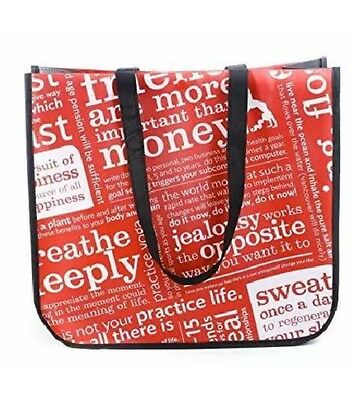LULULEMON Manifesto  (25) Bags LARGE Reusable Tote Bag Lunch/Gym/Shopping NEW
