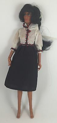 """Vintage Mego 1975 Cher Doll with Dress 12"""" Poseable Retro"""