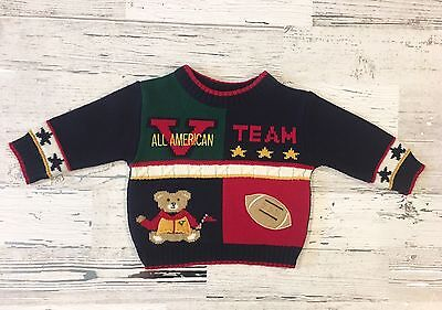 Cute Vintage Baby Togs Boys All American Varsity Football Team Sweater 6-9 M