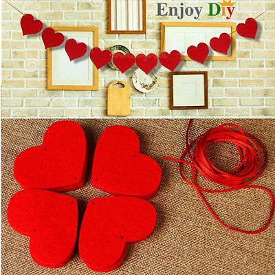 3M Happy Family Love Heart Curtain Non-woven Garland Flags Banner Wedding