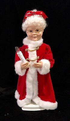 """MRS CLAUS Vintage TELCO 24"""" Animated Illuminated Christmas Motionette WORKING"""