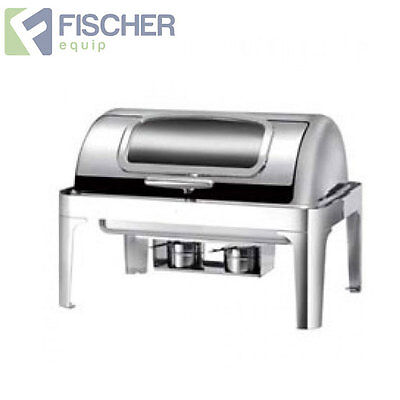"""new"" Luxury 9L S/ Steel Bain Marie Roll-Top Chafer Food Warmer +Electric Heater"