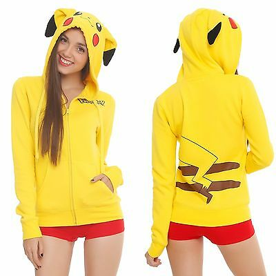Pokemon Pikachu Costume Hoodie Sweater Sweatshirt Jacket For