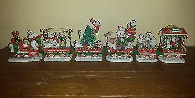 Danbury Mint The Bichon Frise Christmas Express Train Bichons Puppy Dogs