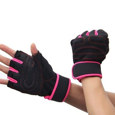 (Pink, Large) - YYGIFTreg; Durable Microfiber Cloth Non-slip Gloves Breathable H