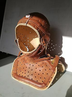 Antique kendo mask armor body vintage leather made steampunk deco mid century