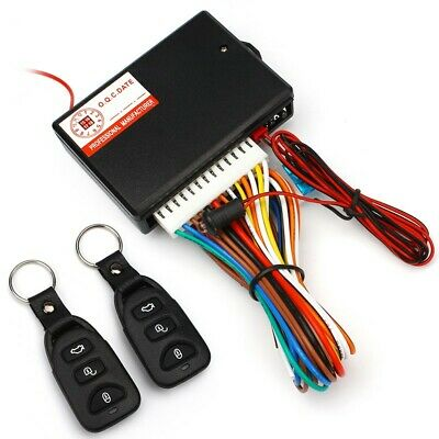 Car 2 Remotes Central Door Locking Vehicle Keyless Entry System DT Kit Universal