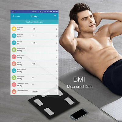Smart Electronic Scale Body Fat BMI for iOS Android Bluetooth-Enabled 400lb