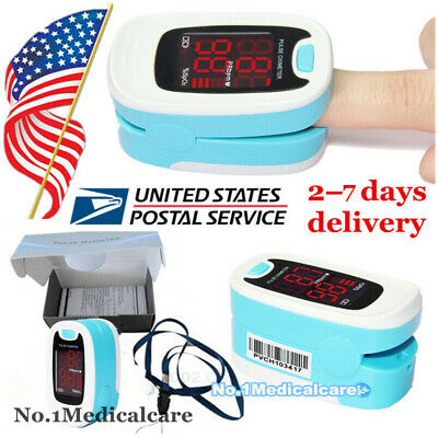 Finger SPO2 Pulse Oximeter, Pouch+Lanyard, blood oxygen saturation O2 Sensor