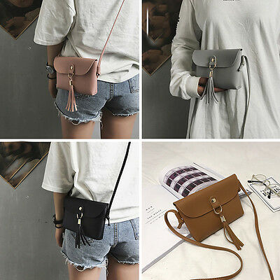 Fashion Women Small Bag Vintage Handbag Mini Messenger Tassel Shoulder Bags