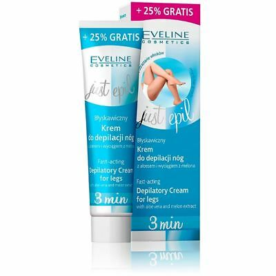 Eveline Just Epil 3 min Fast Acting Depilatory Cream for Legs 125ml