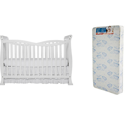 Convertible Baby Crib Toddler Kid Nursery Bed Furniture Bonus Mattress 7 In 1
