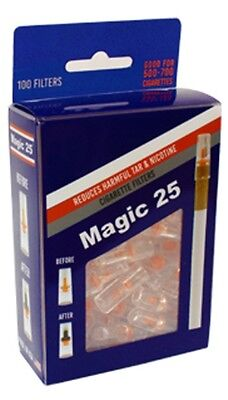 Magic 25 100 Filters Value Pack Cigarette Magic25 Filter Made In Usa