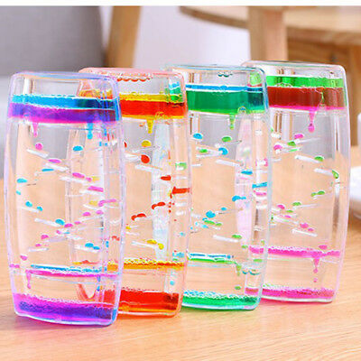 Colorful Floating Liquid Timer Visual Desktop Oil Drop Toy Hourglass Ladder