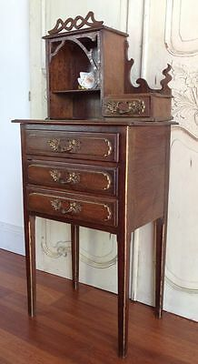 Antique DRESSING TABLE French Oak Dressing Side Table - d024