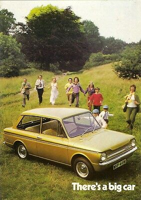 Hillman Sunbeam Imp 1971-72 UK Market Brochure Base De Luxe Super Sport Stiletto