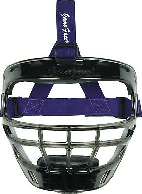 (Smoke, Purple) - Markwort Game Face Softball Safety Mask - Large. Shipping is F