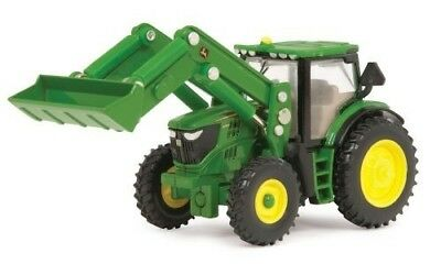 John Deere Ertl 6210R Toy Tractor with Front Loader (1:64 Scale) by John Deere