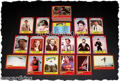 Superman II (2) - Complete Trading Card Set (88) - 1981 Topps - NM